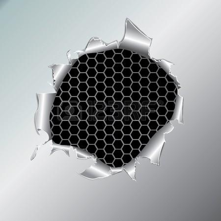 8919573-六角メタリックな背景、金属製の紙の穴。ベクトル-イラスト