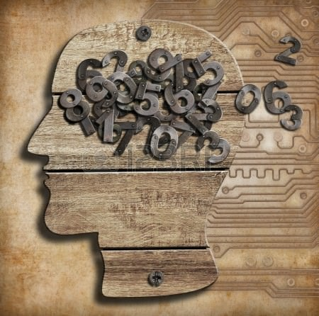 18172572-数字でいっぱいの脳。記憶喪失。