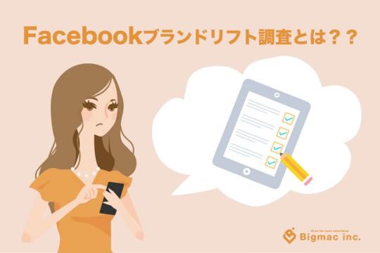 Facebookブランドリフト調査とは??