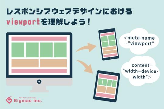 レスポンシブウェブデザインにおけるviewportを理解しよう!
