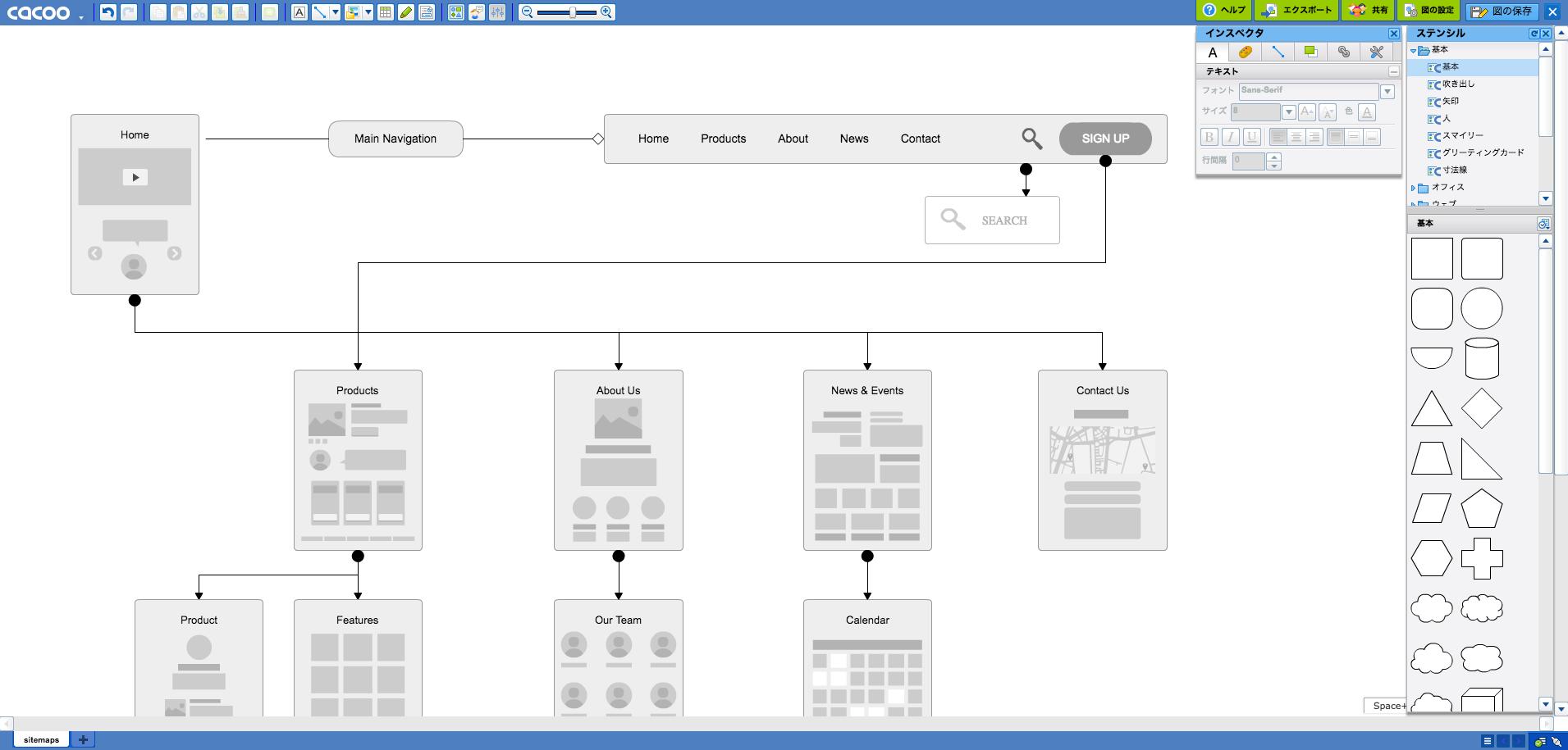 サイトのフローチャート サイトマップの作り方 おすすめツール