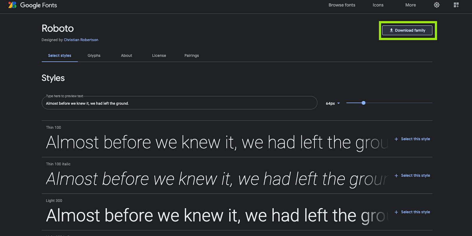 GoogleFontsをデザイン制作で表示させる方法