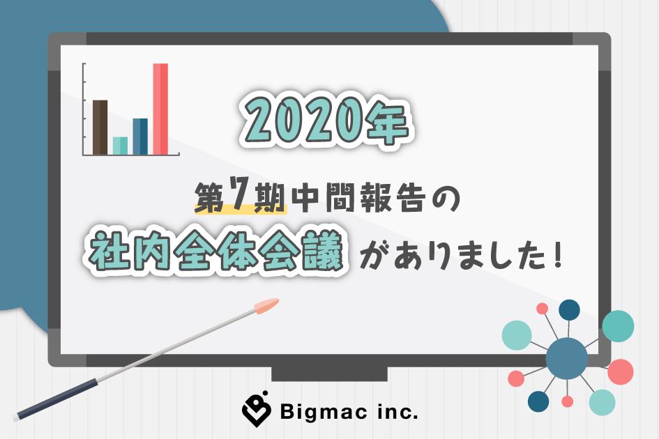 【広報】2020年 第7期中間報告の社内全体会議がありました!