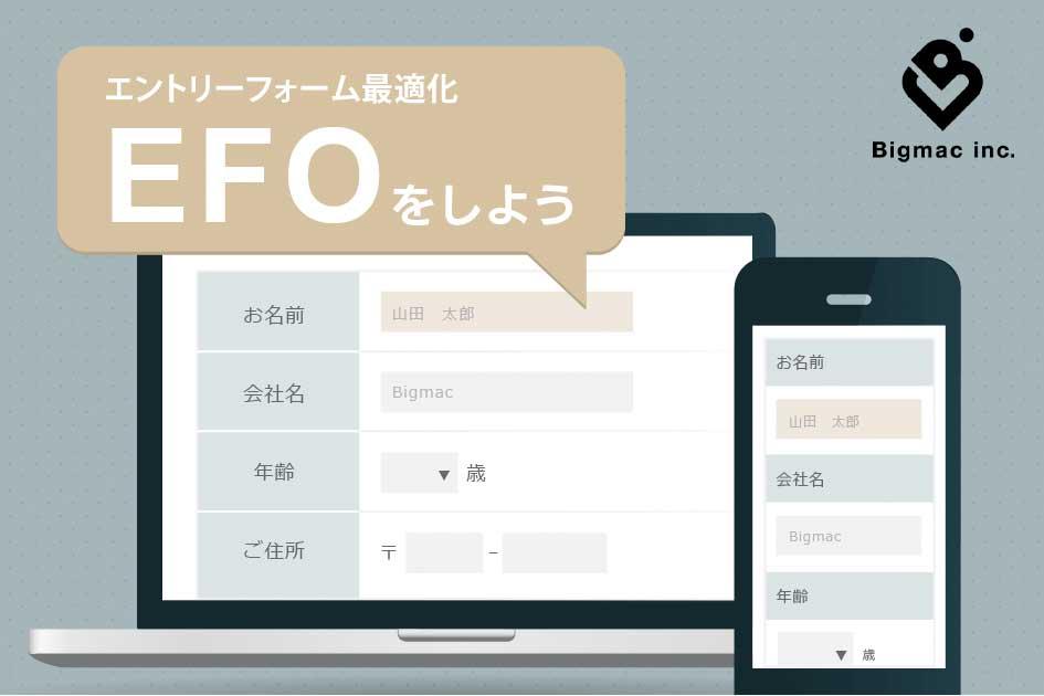 EFO(エントリーフォーム最適化)をしよう