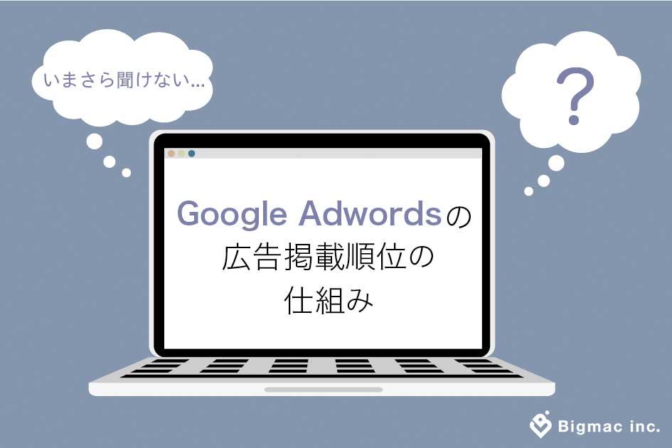 Google Adwordsの広告掲載順位の仕組み
